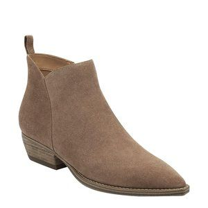 Marc Fisher Obrra Pointed Toe Suede Ankle Boots